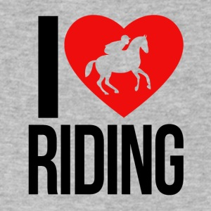 I LOVE HORSE RIDING - Men's V-Neck T-Shirt by Canvas