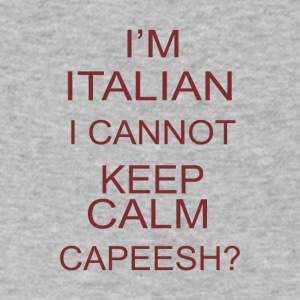 I m italia i cannot keep calm capeesh coffee - Men's V-Neck T-Shirt by Canvas