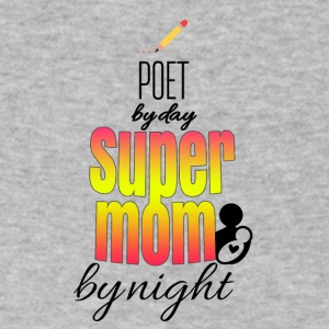 Poet by day and super mom by night - Men's V-Neck T-Shirt by Canvas