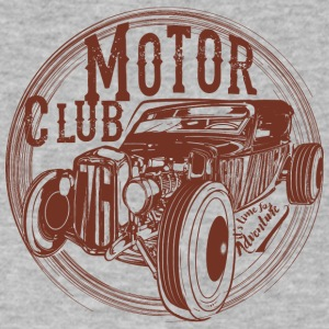 motor-club-emblem-shape - Men's V-Neck T-Shirt by Canvas