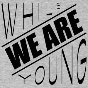 While we are young - Men's V-Neck T-Shirt by Canvas