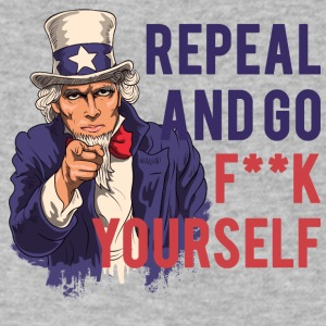 Repeal and go f yourself - Men's V-Neck T-Shirt by Canvas