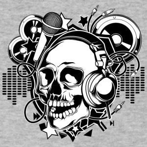 DJ_skull - Men's V-Neck T-Shirt by Canvas