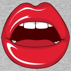 Lips_while_sex - Men's V-Neck T-Shirt by Canvas