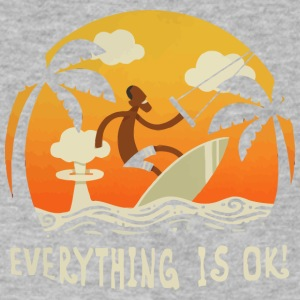 Everything is Ok - Men's V-Neck T-Shirt by Canvas