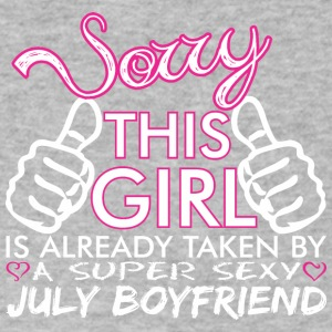 Sorry This Girl Is Already Taken July Boyfriend - Men's V-Neck T-Shirt by Canvas