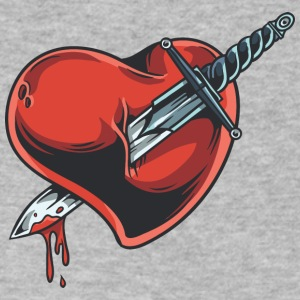 knife_in_heart - Men's V-Neck T-Shirt by Canvas