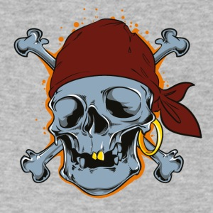 Pirate Skull Bones Comic Style - Men's V-Neck T-Shirt by Canvas