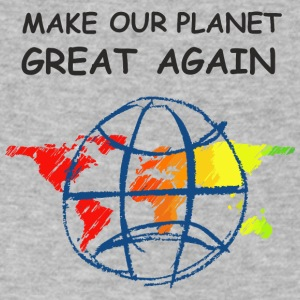 Make Our Planet Great Again - T-Shirt - Men's V-Neck T-Shirt by Canvas