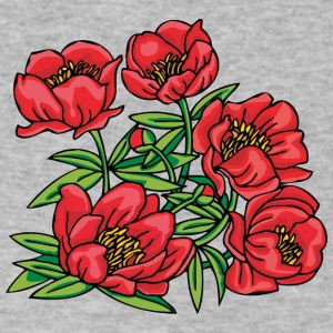 red_flowers_bush - Men's V-Neck T-Shirt by Canvas