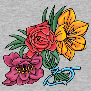 3_colored_flowers - Men's V-Neck T-Shirt by Canvas