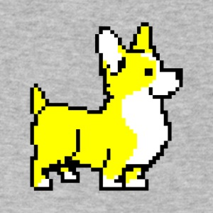 Yellow Corgi - Men's V-Neck T-Shirt by Canvas