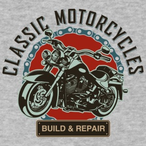 Classic Motorcycles Build and Repair - Men's V-Neck T-Shirt by Canvas