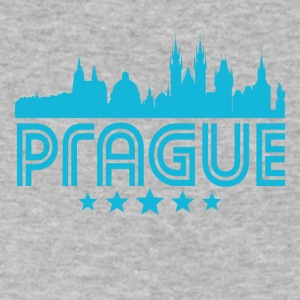 Retro Prague Skyline - Men's V-Neck T-Shirt by Canvas