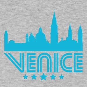 Retro Venice Skyline - Men's V-Neck T-Shirt by Canvas