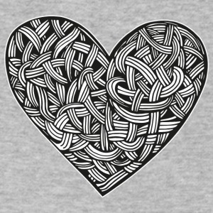 heart tattoo graphic illustration interlacing - Men's V-Neck T-Shirt by Canvas