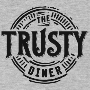 TheTrustyDiner black - Men's V-Neck T-Shirt by Canvas