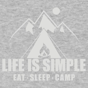 Life Is Simple Eat Sleep Camp - Men's V-Neck T-Shirt by Canvas