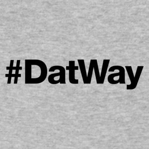DatWay - Hashtag Design (Black Letters) - Men's V-Neck T-Shirt by Canvas