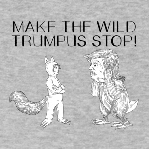 MAKE THE WILD TRUMPUS STOP! - Men's V-Neck T-Shirt by Canvas