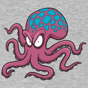 cool art monster Octopus wild sea animal wildlife - Men's V-Neck T-Shirt by Canvas
