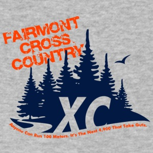 FAIRMONT CROSS COUNTRY - Men's V-Neck T-Shirt by Canvas