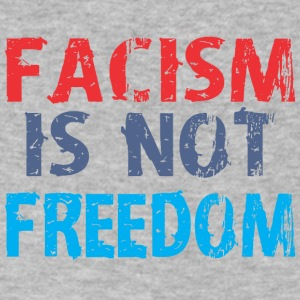 Facism Is Not Freedom - Men's V-Neck T-Shirt by Canvas