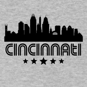 Retro Cincinnati Skyline - Men's V-Neck T-Shirt by Canvas