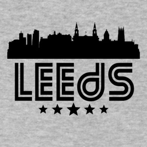 Retro Leeds Skyline - Men's V-Neck T-Shirt by Canvas