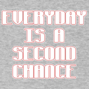 Everyday is a second chance - Men's V-Neck T-Shirt by Canvas