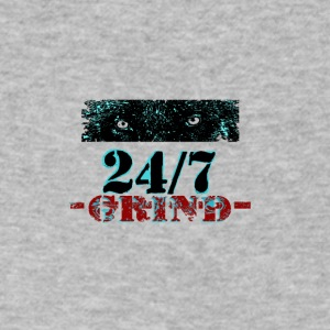 24 7 Grind b132 - Men's V-Neck T-Shirt by Canvas