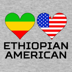Ethiopian American Hearts - Men's V-Neck T-Shirt by Canvas
