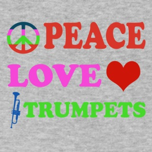 Peace love Trumpets - Men's V-Neck T-Shirt by Canvas