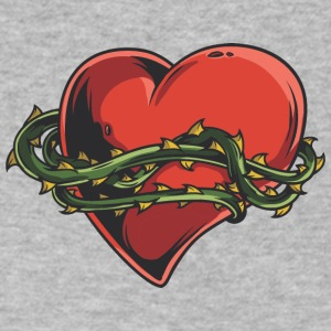 heart_with_thorn_plant_around - Men's V-Neck T-Shirt by Canvas