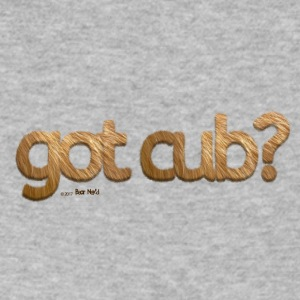 'got cub?' - Fuzzy Fun for Gay Bear Cubs - Grizzly - Men's V-Neck T-Shirt by Canvas