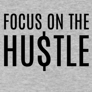 Focus_on_the_hustle - Men's V-Neck T-Shirt by Canvas