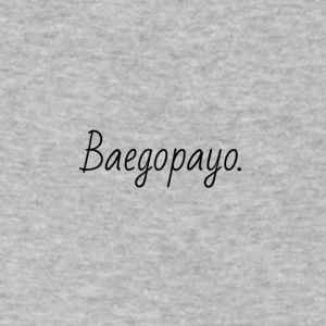 Baegopayo logo / I'm hungry in korean - Men's V-Neck T-Shirt by Canvas