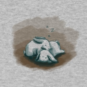 Sleeping Bunnies - Men's V-Neck T-Shirt by Canvas