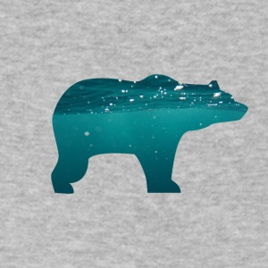 bear in water - Men's V-Neck T-Shirt by Canvas