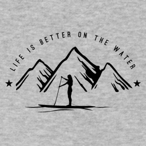 SUPGIRL - Life is better on the water *dark* - Men's V-Neck T-Shirt by Canvas