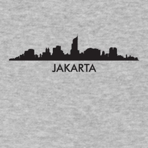 Jakarta Indonesia Skyline - Men's V-Neck T-Shirt by Canvas