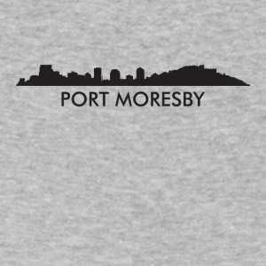 Port Moresby Papua New Guinea Skyline - Men's V-Neck T-Shirt by Canvas