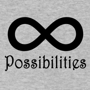 Infinite Possibilities T-Shirt - Men's V-Neck T-Shirt by Canvas