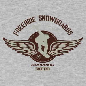 Freeride snowboard - Men's V-Neck T-Shirt by Canvas