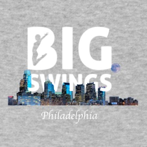 Philadelphia Skyline Art | Big Swings - Men's V-Neck T-Shirt by Canvas