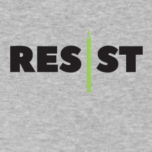 Resist Writer - Men's V-Neck T-Shirt by Canvas