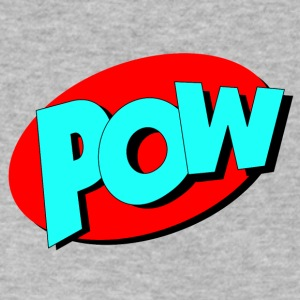 pow in Comic Style - Men's V-Neck T-Shirt by Canvas