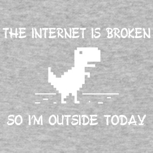 The internet is broken so i m outside today - Men's V-Neck T-Shirt by Canvas