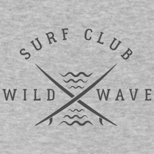 Surf Club Wild Wave Logo - Men's V-Neck T-Shirt by Canvas