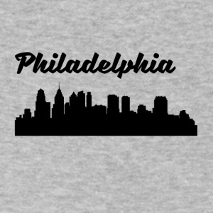 Philadelphia PA Skyline - Men's V-Neck T-Shirt by Canvas